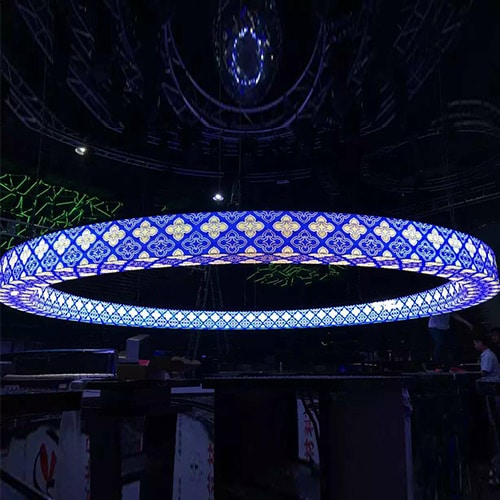 LED display-ring shape